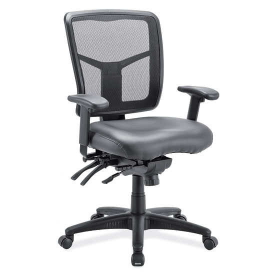 Multi Function, Mid Back Chair with Seat Slider and Black Frame