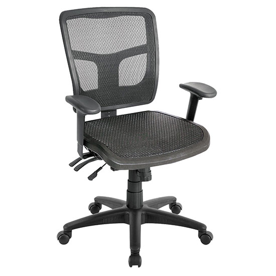 Function, Mid Back Chair with Seat Slider and Black Frame