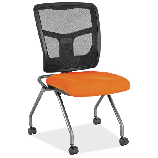 Armless Nesting Chair with Titanium Gray Frame