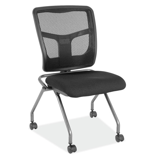 Armless Nesting Chair with Titanium Gray Frame