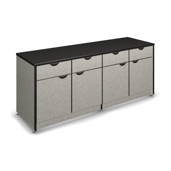 "4 Drawer and 4 Door Buffet Height Credenza with Locks – 36"" H"