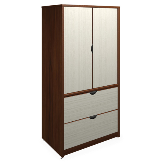 "2 Drawer Lateral, 2 Door Storage with Locks – 72"" H"
