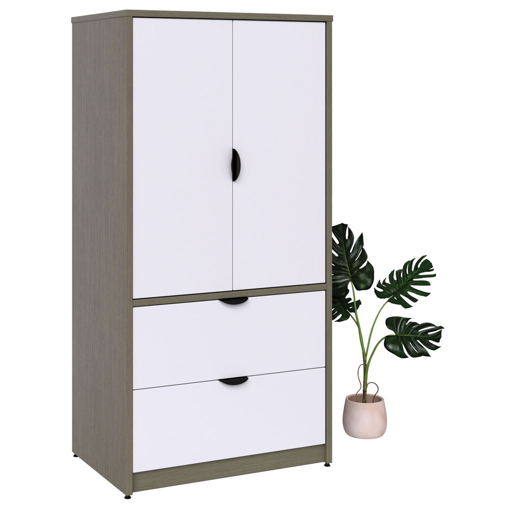 "2 Drawer Lateral 2 Door Storage with Locks – 72"" H"