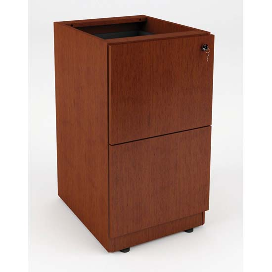 Credenza or Return Pedestal with Dual File Storage