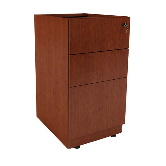 Credenza or Return Pedestal with File and Dual Box Storage