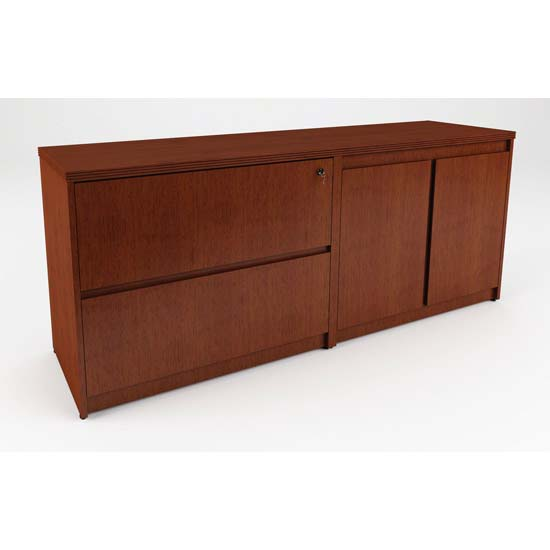 Storage Credenza with Two Doors and Two Files