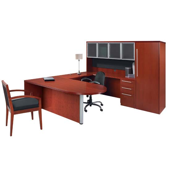 Executive Bullet U with Peninsula Desk