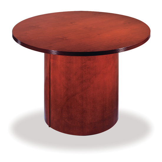 "Round Conference Table – Cylinder Base – 25"" Diameter"