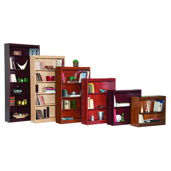 Contemporary 48''H Wood Veneer Bookcase