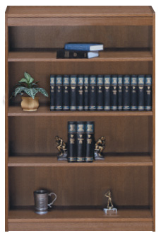 Contemporary 60''H Wood Veneer Bookcase
