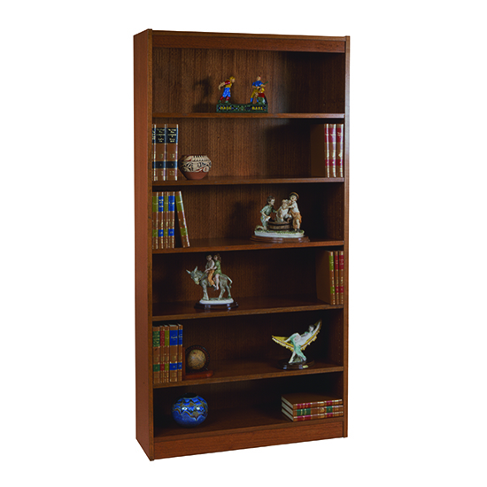 "Contemporary Veneer Bookcase – 72""H – 100 LB Capacity"