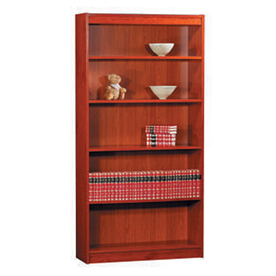 "Contemporary Veneer Bookcase – 72""H – 120 LB Capacity"