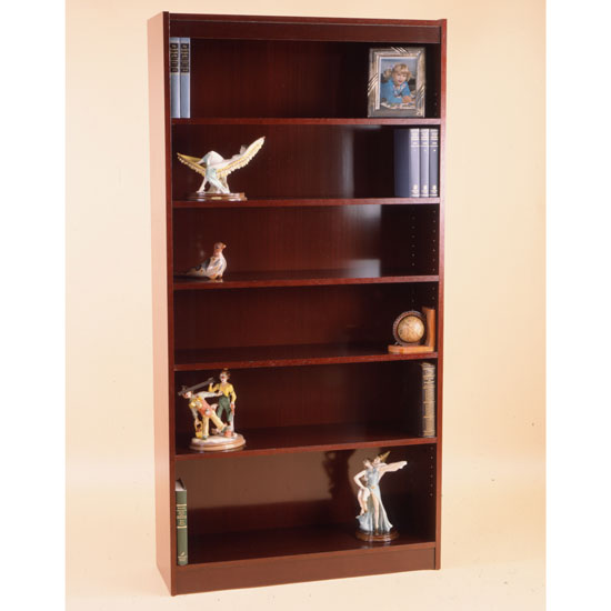 "Contemporary Veneer Bookcase – 84""H – 150 LB Capacity"