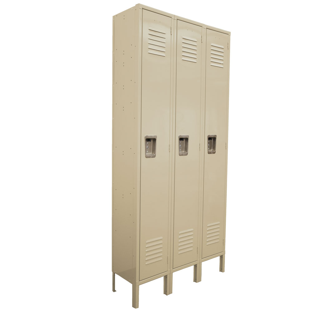 OfficeSource Corridor Lockers 1 Tier 3-Wide Locker