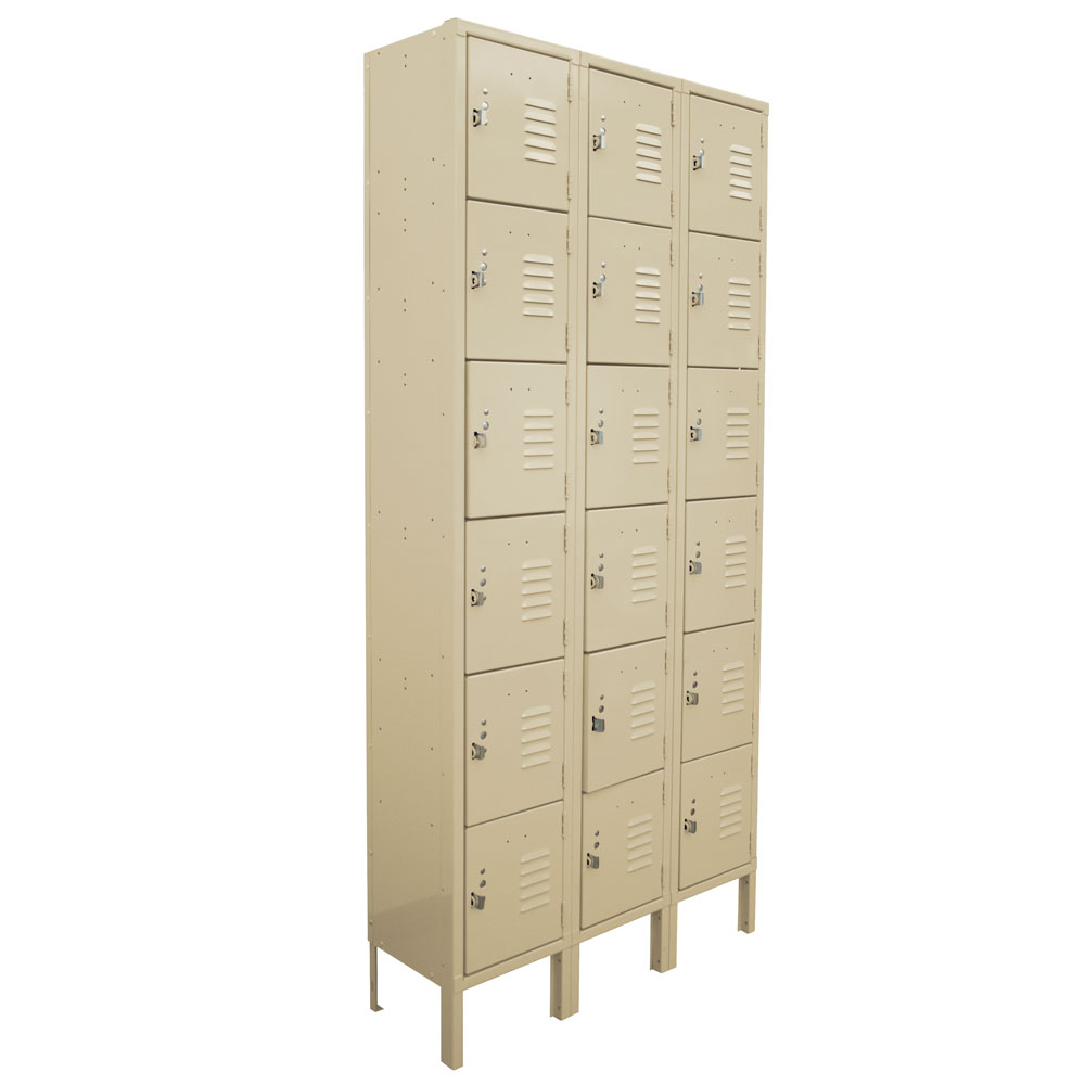 OfficeSource Corridor Lockers 6 Tier 3-Wide Locker
