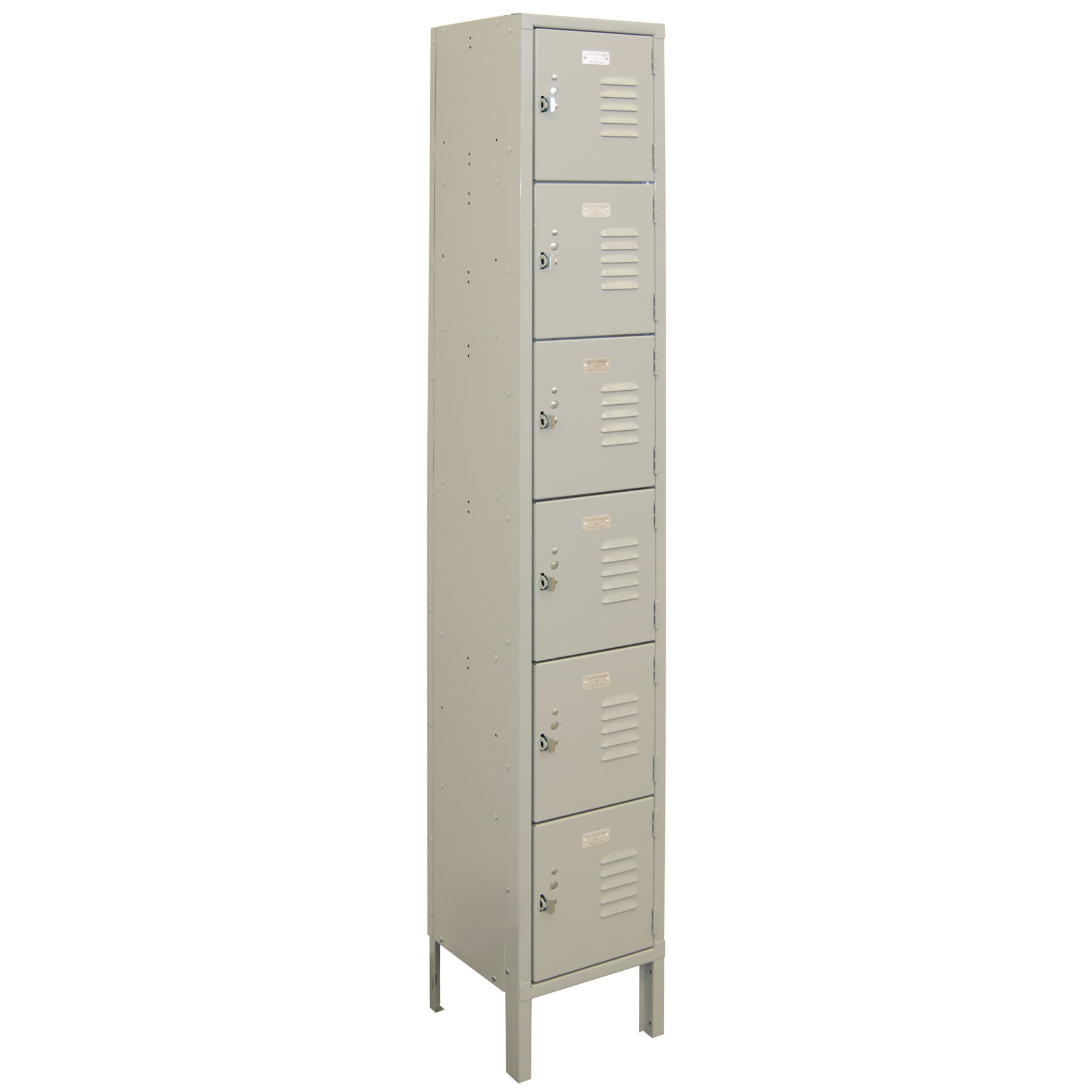 OfficeSource Corridor Lockers 6 Tier 1-Wide Locker