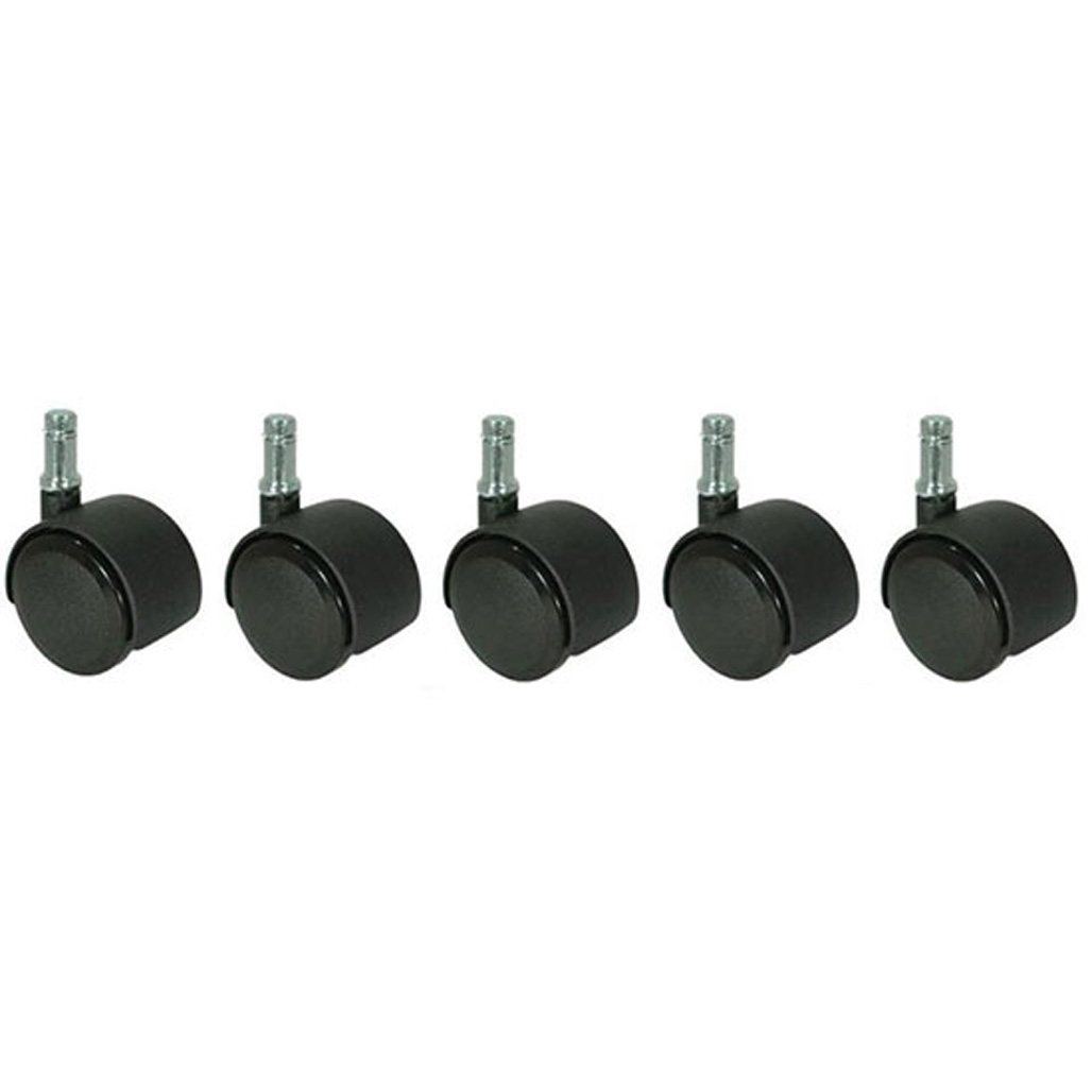OfficeSource CoolMesh Pro Collection Soft Dual Wheel Casters – Set of 5