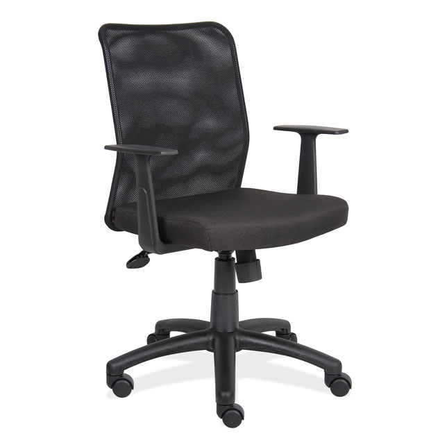 OfficeSource Crossway Collection Mesh Back Task Chair with Black Base