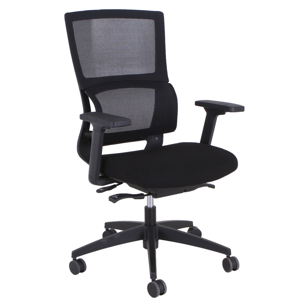 OfficeSource Curve Collection High Back, Mesh Task Chair with Black Frame