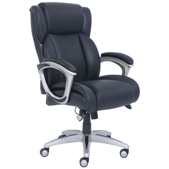 La Z Boy Executive Chair with Silver Frame