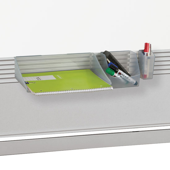 Accessory Tray Set for Mobile Room Partition and Display Panel