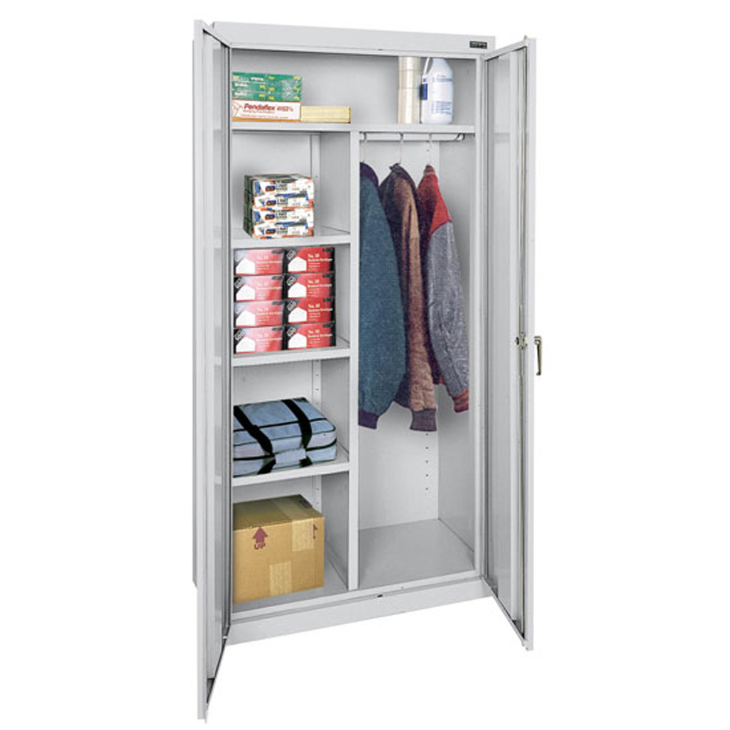 OfficeSource Deluxe Storage Cabinets Combination Wardrobe and Storage Cabinet