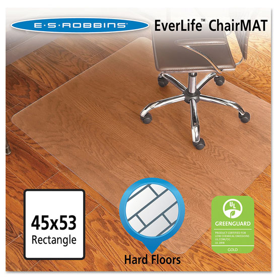 OfficeSource by ES Robbins Everlife Chairmats For Hard Wood Floors Straight Edge Mat