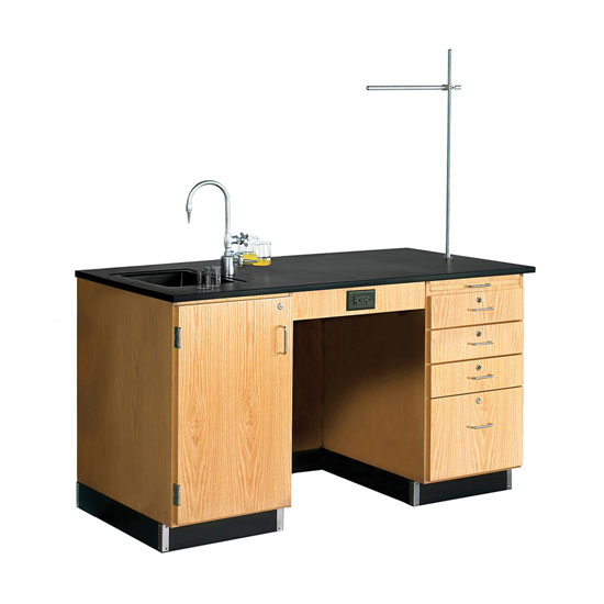 5′ Instructor Desk with Solid Epoxy Top