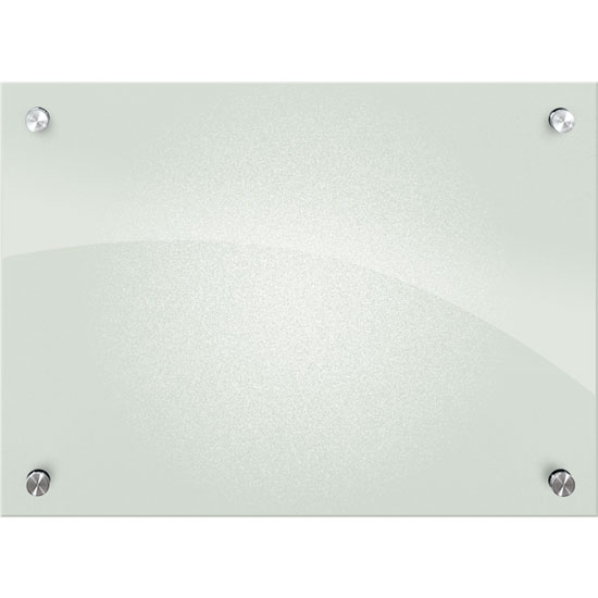Enlighten Frosted Pearl Glass Dry Erase Whiteboard