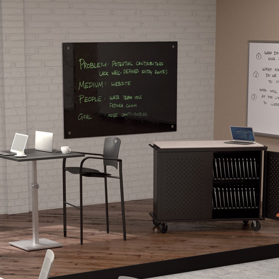 Enlighten Glass Dry Erase Markerboard