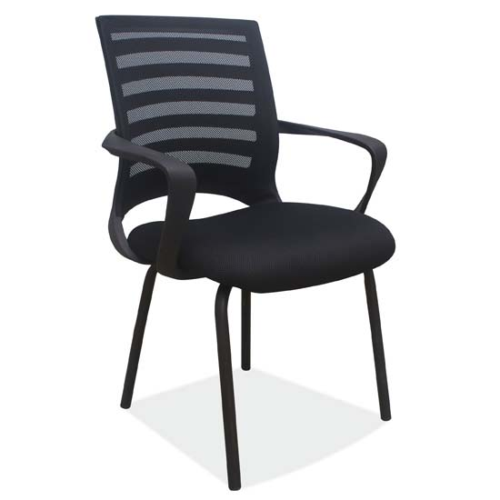 Side Chair with Arms and Black Frame