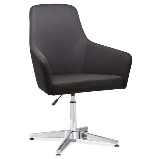 OfficeSource Elroy Collection Elroy Chair with Seat Adjustment and Chrome Base