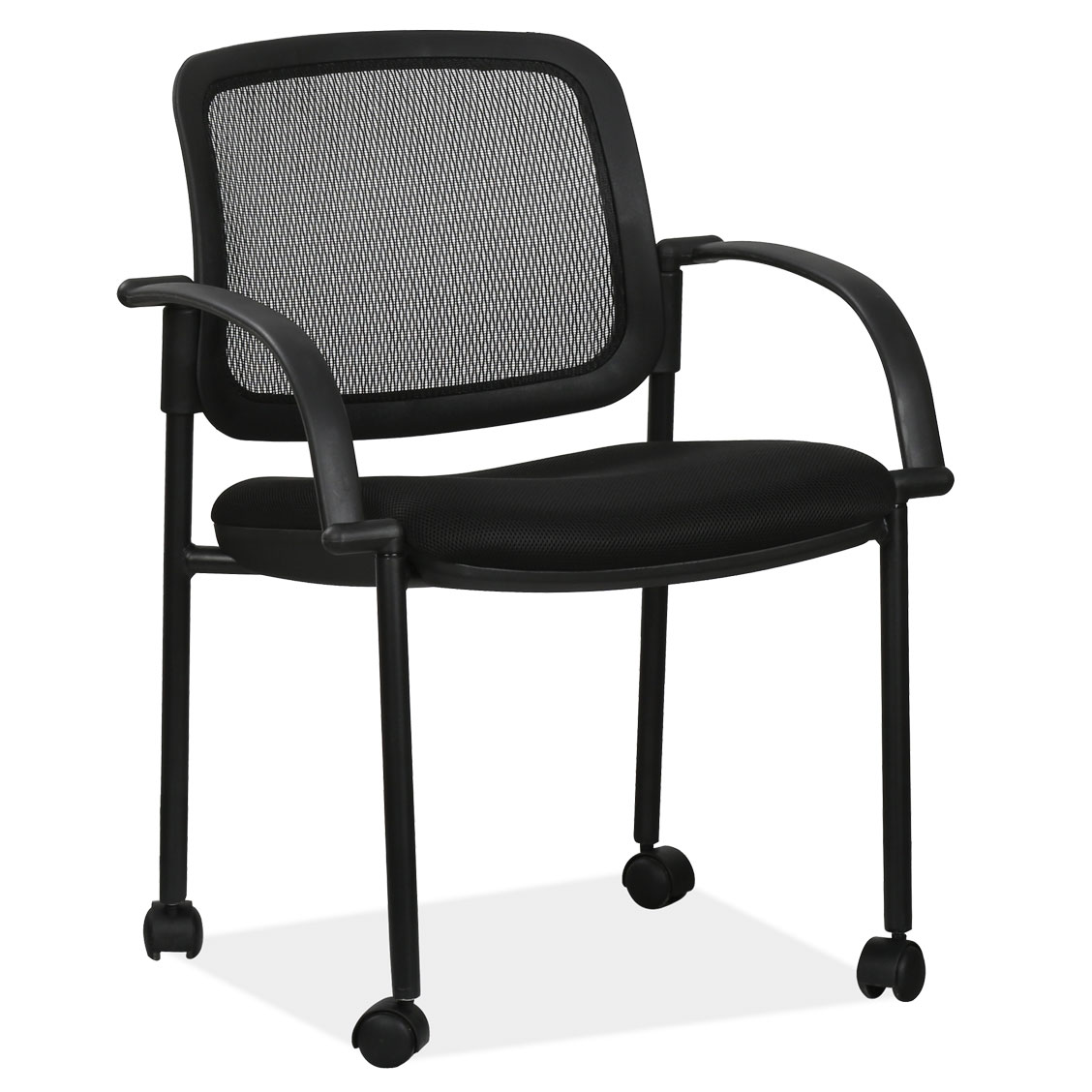 OfficeSource Encline Collection Mesh Back Side Chair with Casters