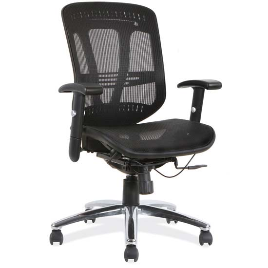 Mesh, Mid Back Chair with Chrome Frame