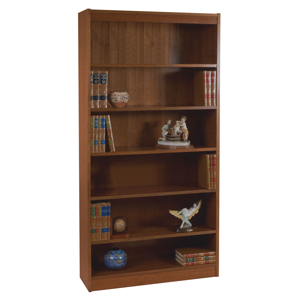 "Excalibur Heavy Duty Shelf 84""H Wood Veneer Bookcase"
