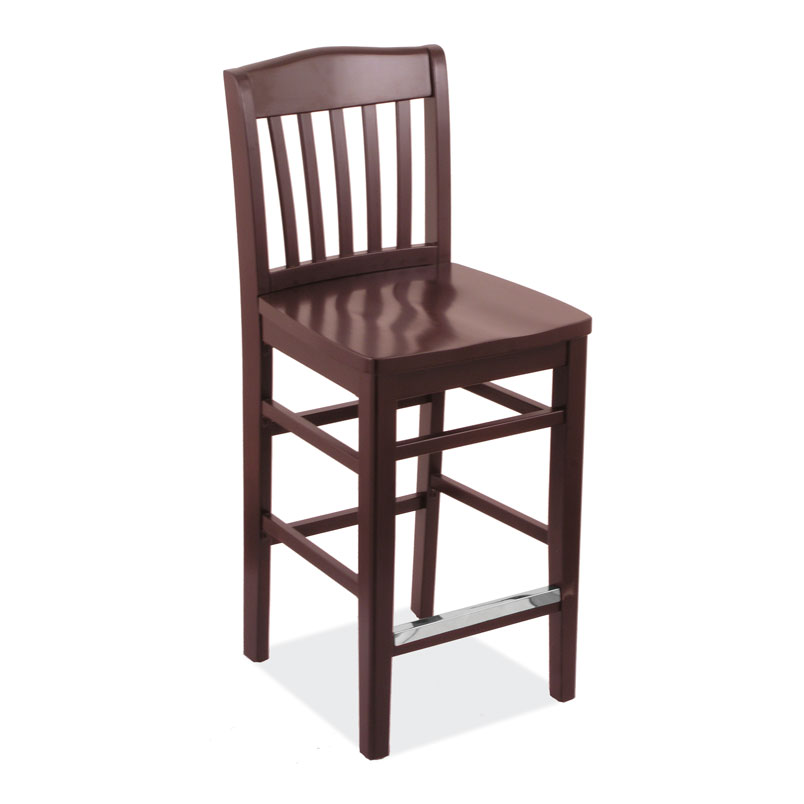 All Wood Bar Stool