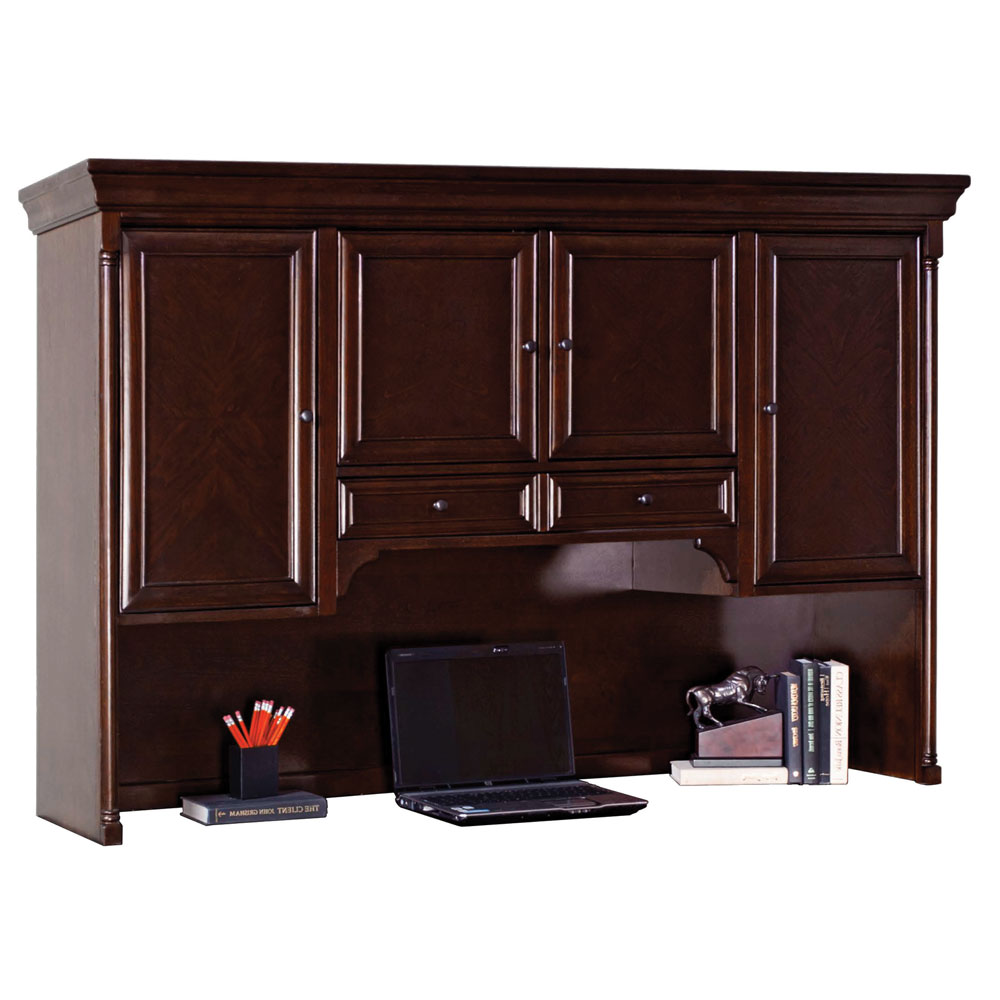 OfficeSource Harding Collection Hutch With Pull-Out Task Light