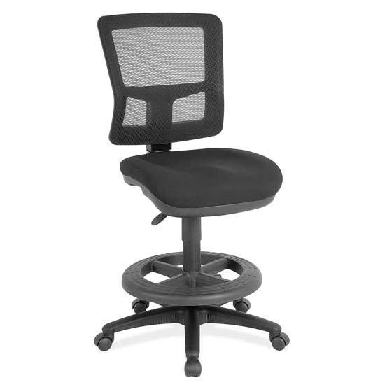 Armless, Mesh Task Chair with Black Frame