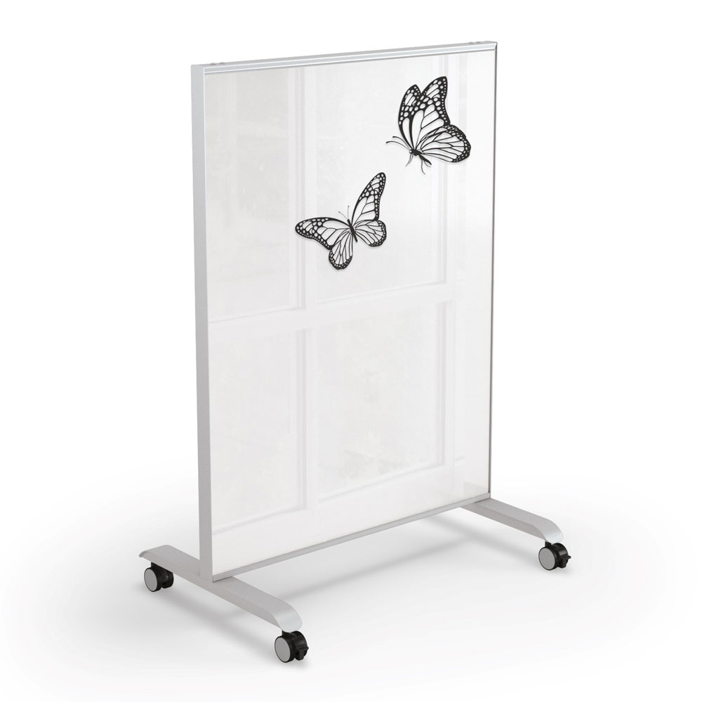 Mobile Magnetic Glass Board – 3′ x 4′