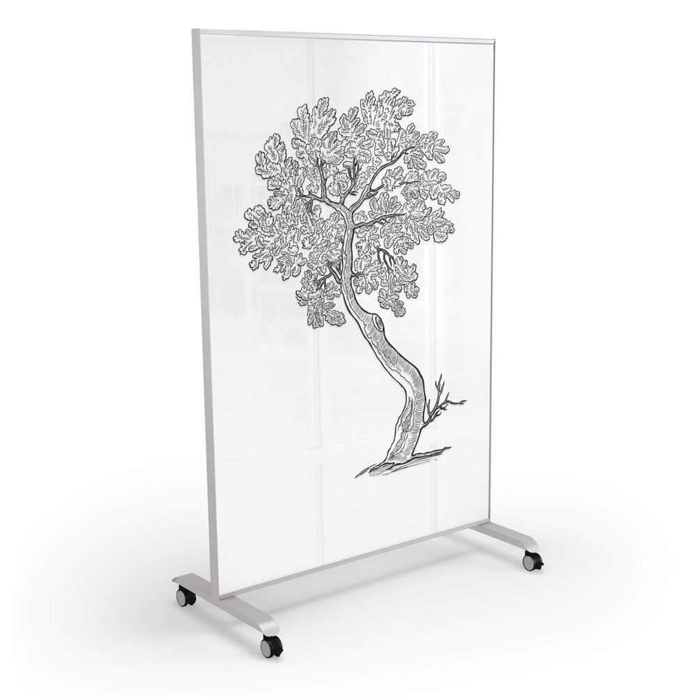 Mobile Magnetic Glass Board – 4′ x 6′