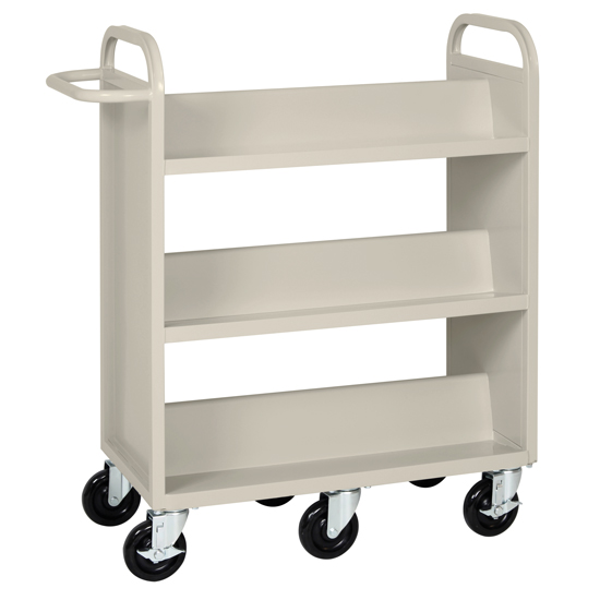 Double Sided Booktruck with Six Shelves