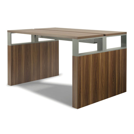 "96"" High Top Conference Table with Metal Boxes"