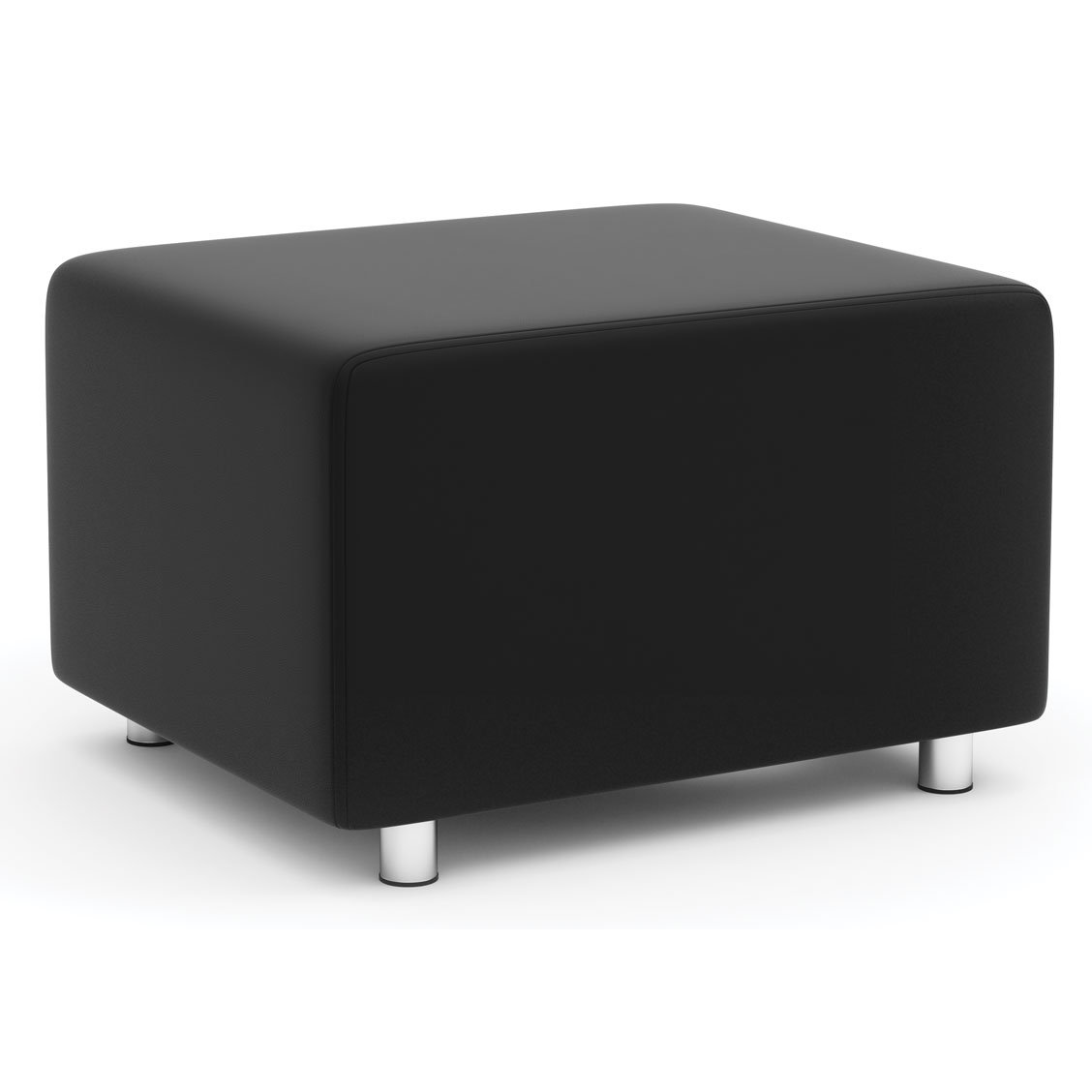OfficeSource Integrate Collection Square Ottoman or Backless Seat