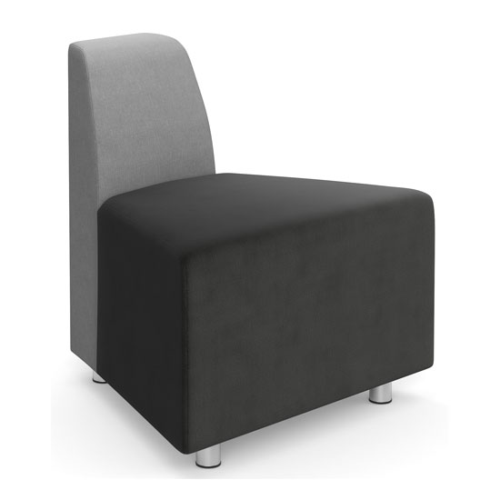 OfficeSource Integrate Collection Armless Wedge with Back on Small Side