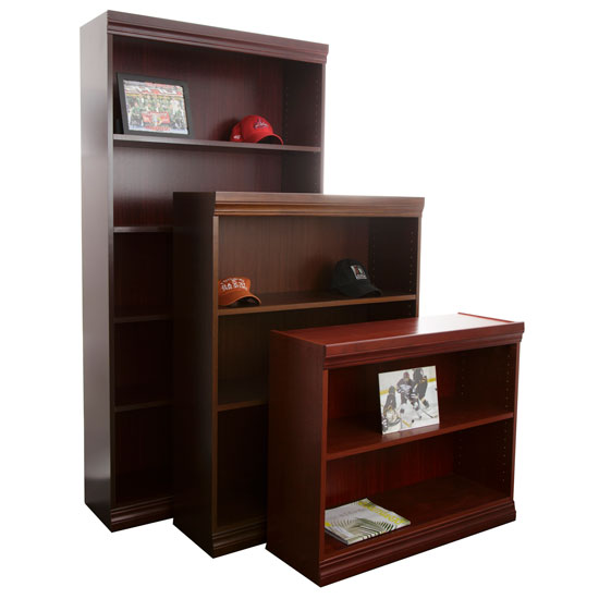 veneer shelves jefferson traditional wood veneer bookcase with heavy duty shelves officesource furniture 5459