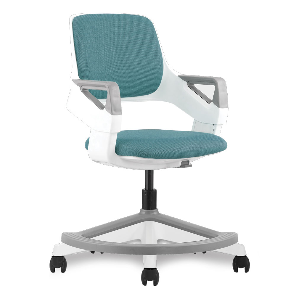 OfficeSource Jiffy Collection Children's Chair with White Frame and Footring
