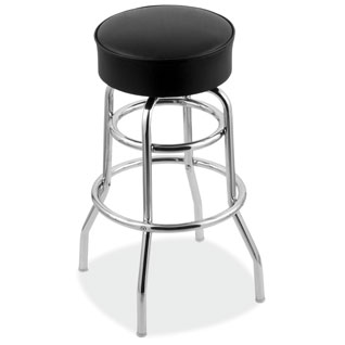 Vinyl Stool with Chrome Base