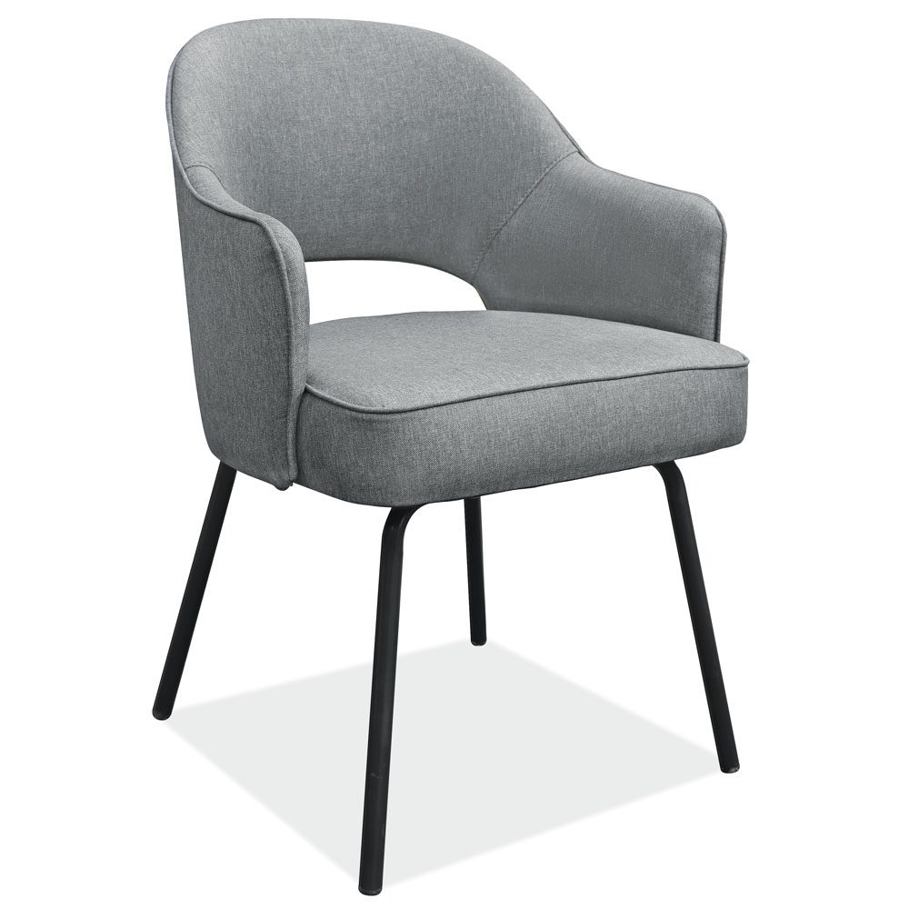 Modern Guest Chair with Black Metal Legs
