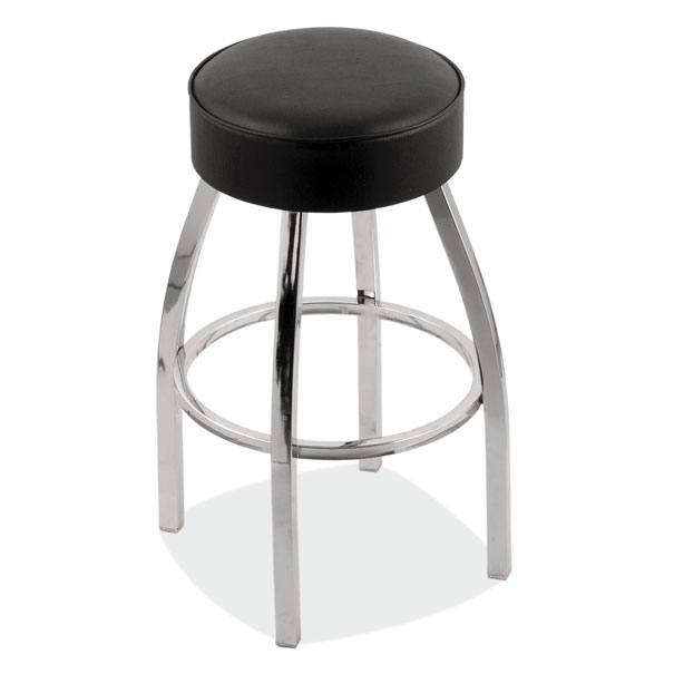 Backless Bar Stool with Chrome Frame