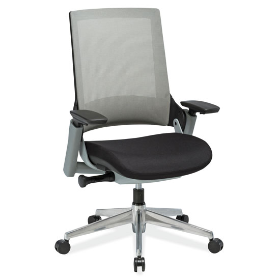 OfficeSource Luna Collection Mid Back Mesh Chair with Two-Tone Frame and Aluminum Base